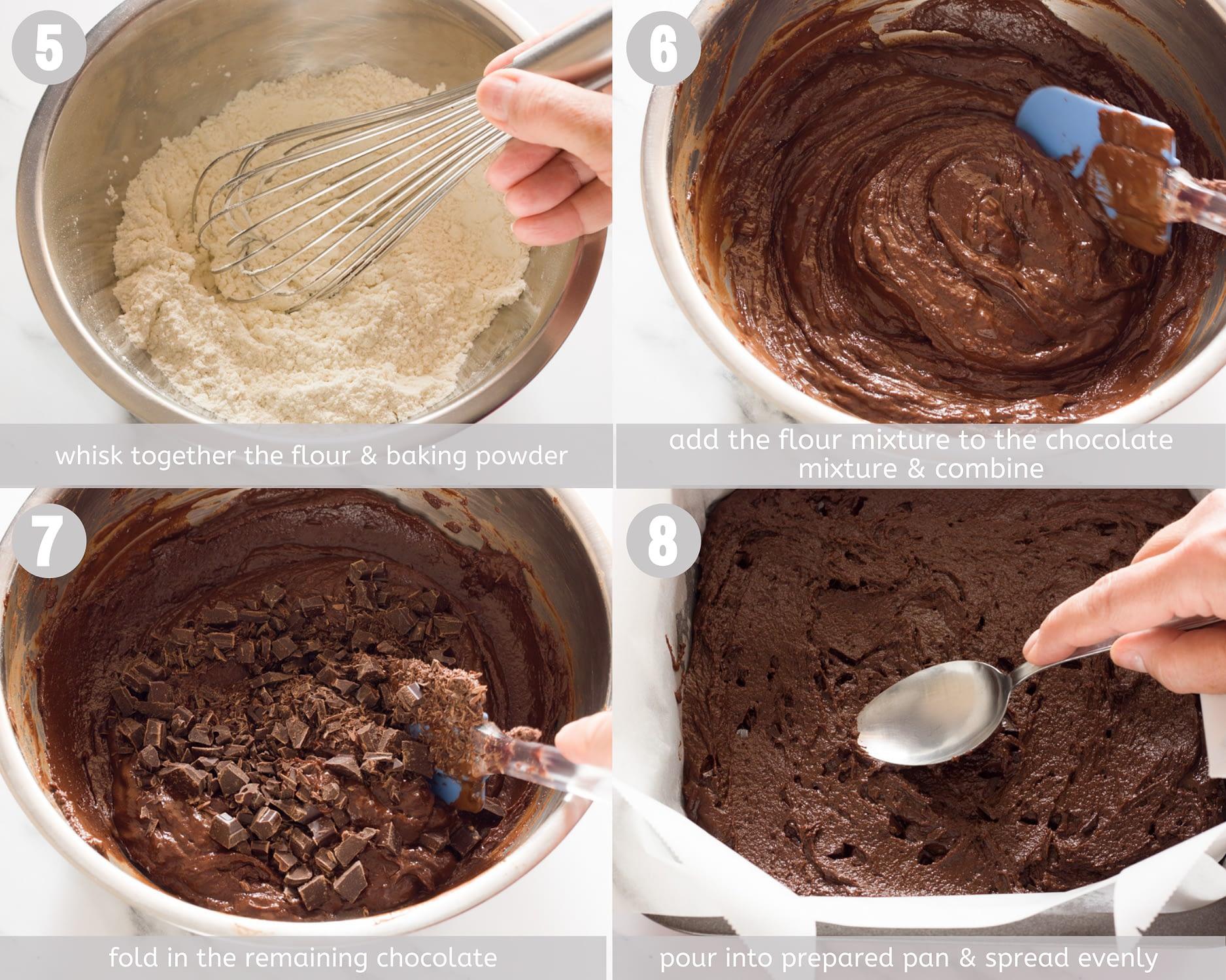 vegan brownies steps 5-8