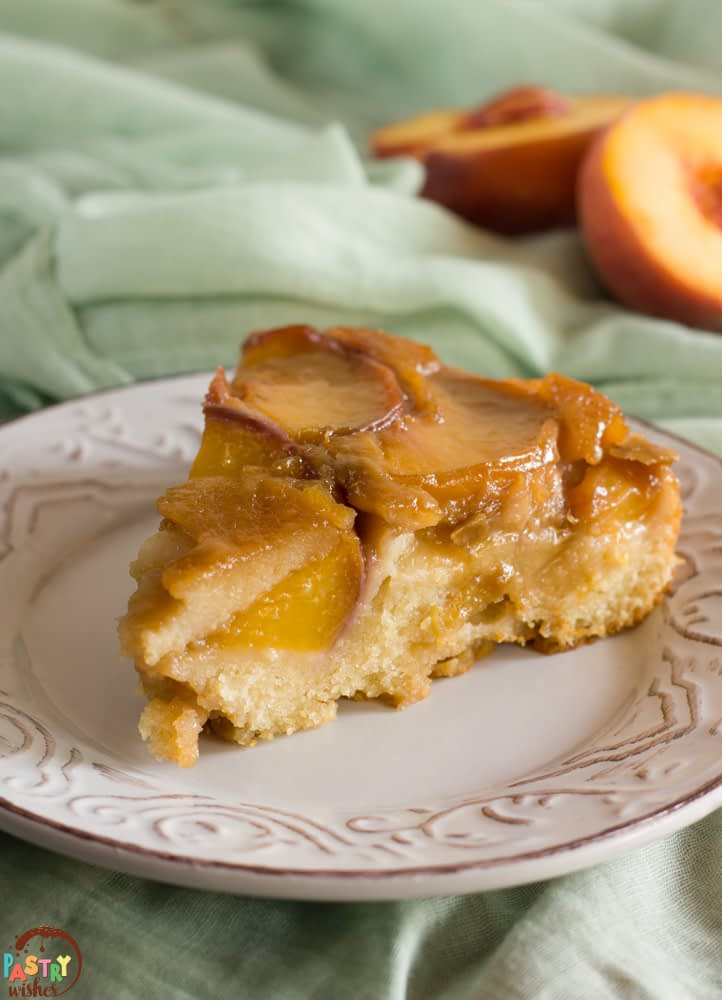 fresh peach upside down cake