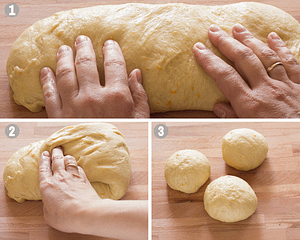 how to braid tsoureki steps 1-3