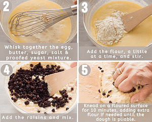 mix the wet and dry ingredients and knead the dough