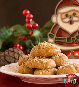 Melomakarona Greek Christmas Honey Cookies