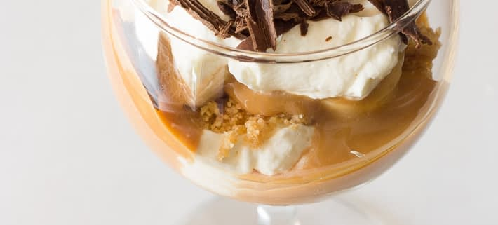 no bake banoffee pie cups