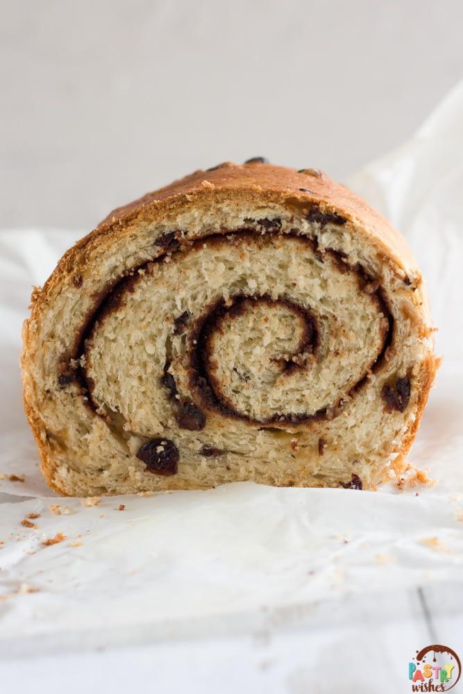 swirled raisin bread