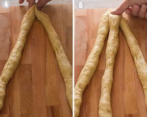 how to braid tsoureki steps 4-5