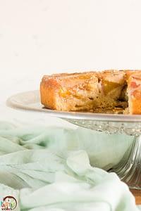 upside down peach cake