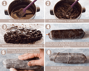 how to make chocolate salami in six steps