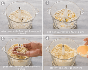 how to make french pastry crust steps 1-4