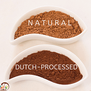 natural and dutch processed cocoa powder