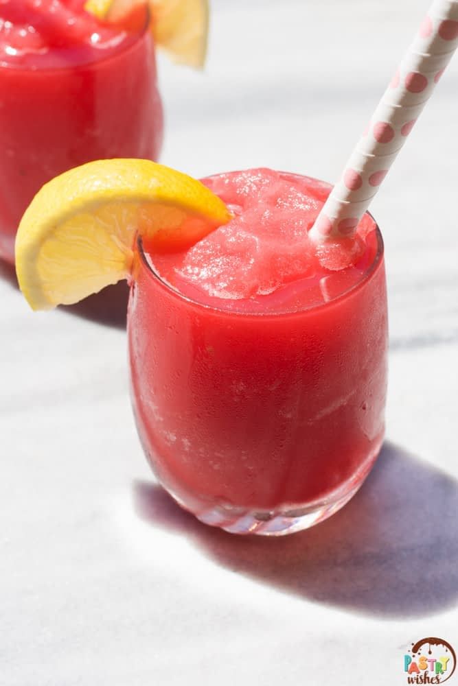 homemade watermelon slushie