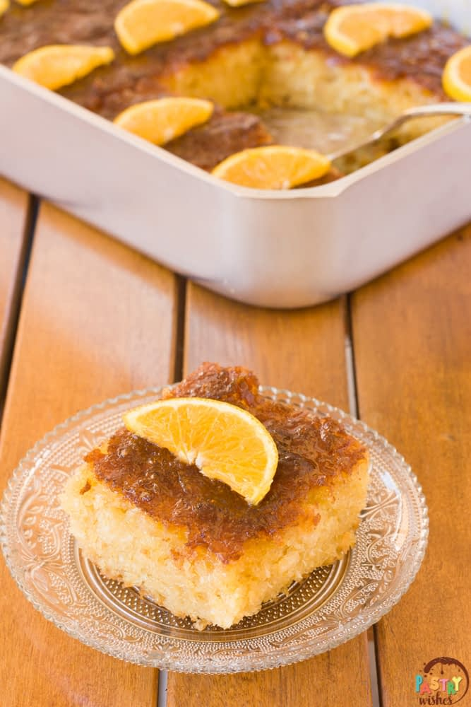 portokalopita greek orange phyllo cake