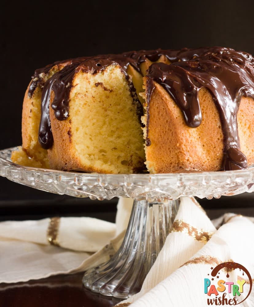 ouzo-spiked chocolate orange cake
