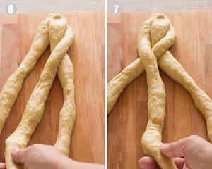 how to braid tsoureki steps 6-7